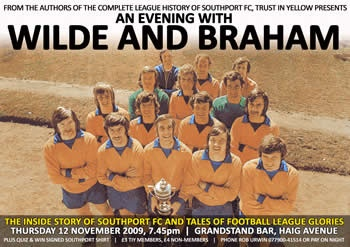 Wilde & Braham, Thursday 12th November, Grandstand Bar Haig Avenue
